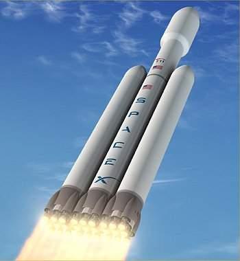 Falcon Heavy da SpaceX (http://www.inovacaotecnologica.com.br)