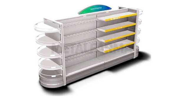 gondola de farmacia 1 - Saiba o que é preciso fazer na exposição de produtos para chamar a atenção dos consumidores