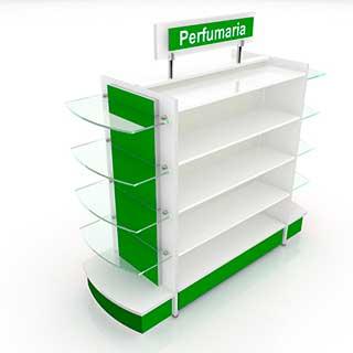 gondola mista - Confira quais são os móveis para farmácias mais adequados para fazer a exposição dos produtos