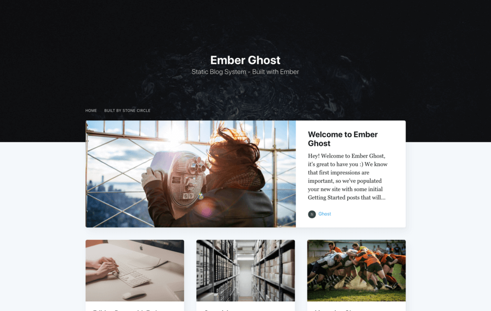 3 Reasons to use Ghost for your next blog