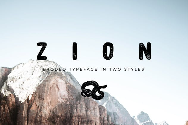 Zion – Eroded Grunge Font Free Download