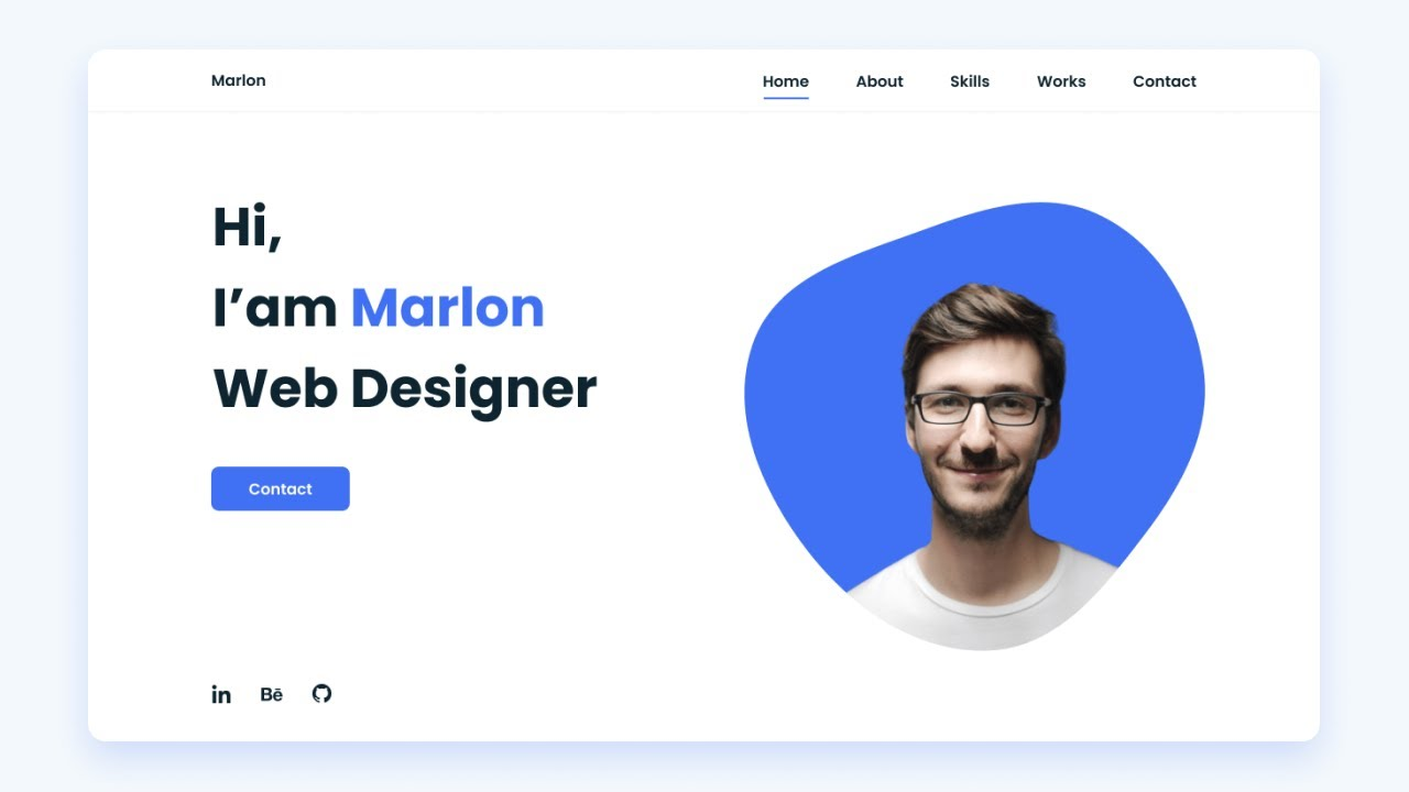 Responsive Personal Portfolio Website HTML CSS And JAVASCRIPT | Mobile First