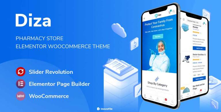 Diza – Pharmacy Store Elementor WooCommerce Theme