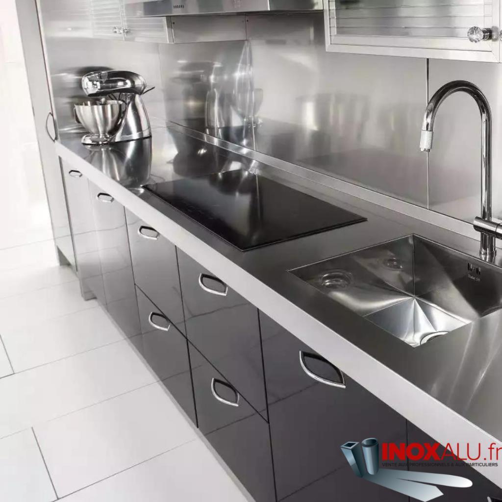 Vente De Fond De Hotte Et Credence Sur Mesure En Aluminium Brosse Inoxalu Fr