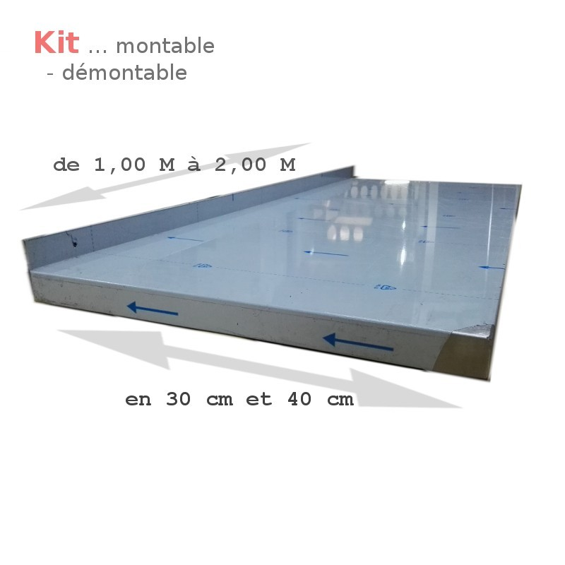 etagere tablette eml 1 0 s40 inox 18 10 brosse