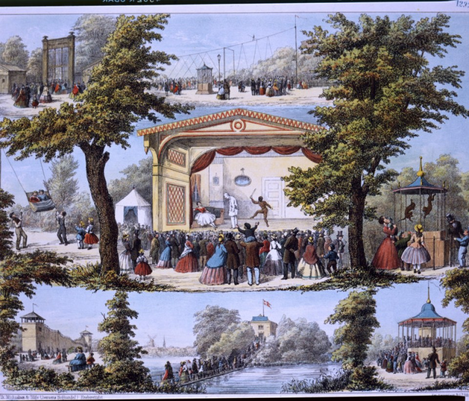 Tivoli c 1850 Danske Billeder