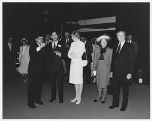 James Ogul with the British royal family at the US Pavilion, Vancouver Expo 86. Photo courtesy James Ogul.