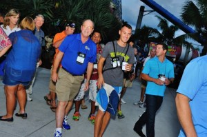 Attendees flood into the The Rapids Water Park, the host location for the Annual Reunion Party. Behind-the-scenes tours, food, drinks and music were enjoyed by close to 700 people at this popular networking event.