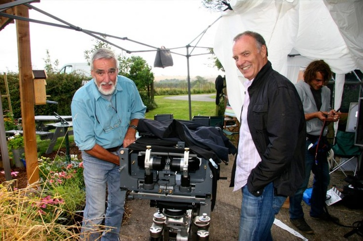 Peter Parks (L), responsible for macro/close up butterfly shots, and Barker (R)