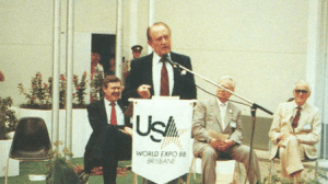 Art Linkletter, Commissioner General of the US Pavilion at World Expo 88 (Brisbane, Australia)