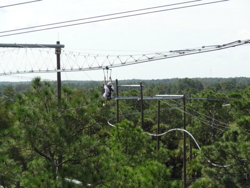 inpark magazine florida s largest zipline complex gets new name