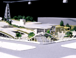 Model of design concept for US Pavilion at Hanover Expo 2000. Photo courtesy James Ogul.