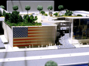 Another look at the US Pavilion model for Hanover 2000. Ultimately the US did not participate and the pavilion was never built. Photo courtesy James Ogul.