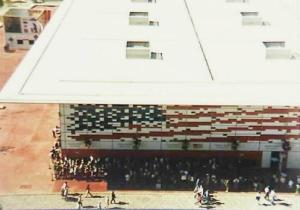 The US Pavilion at Lisbon Expo 98. In a sign of the times, this was the first US expo pavilion to have a virtual existence on an official website as well. Photo: James Ogul.