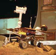 A model of the Mars Rover was exhibited at the US Pavilion at Expo 2005 in Japan
