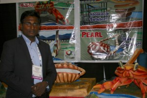 Ganesh Ankam from Ankam Corporation launches his innovative ocean-themed waterslides. Photo: Rebecca Lam.