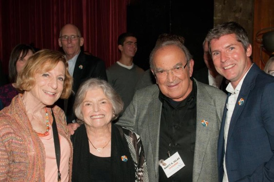 (From left to right) Artist and former Ryman Arts Board Member, Ruth Weisberg, Co-Founders, Leah & Marty Sklar, and Walt Disney Imagineering, Chief Creative Executive, Bruce Vaughn gather to celebrate Ryman Arts at its 25th Anniversary event.