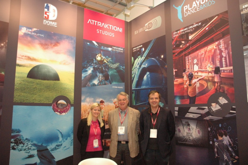 Attraktion!'s Carina Kaltenleithner, Kevin Murphy and Markus Beyr