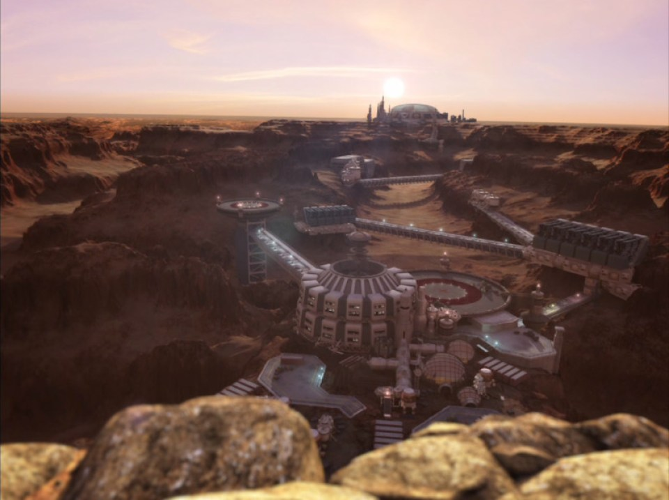 Colonized Mars