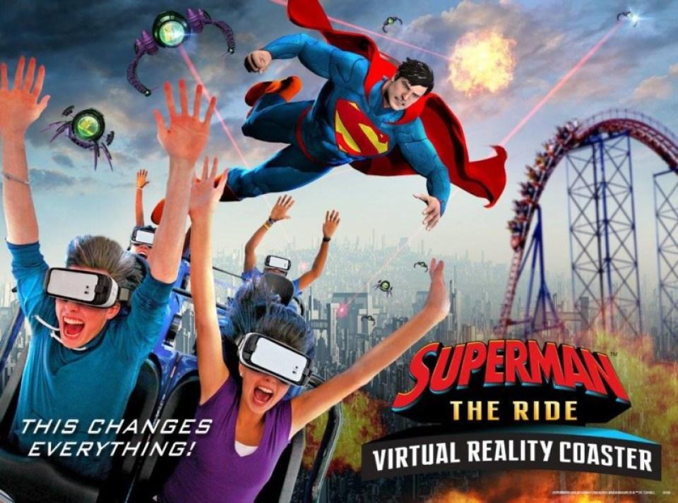 Superman the Ride VR Key Art
