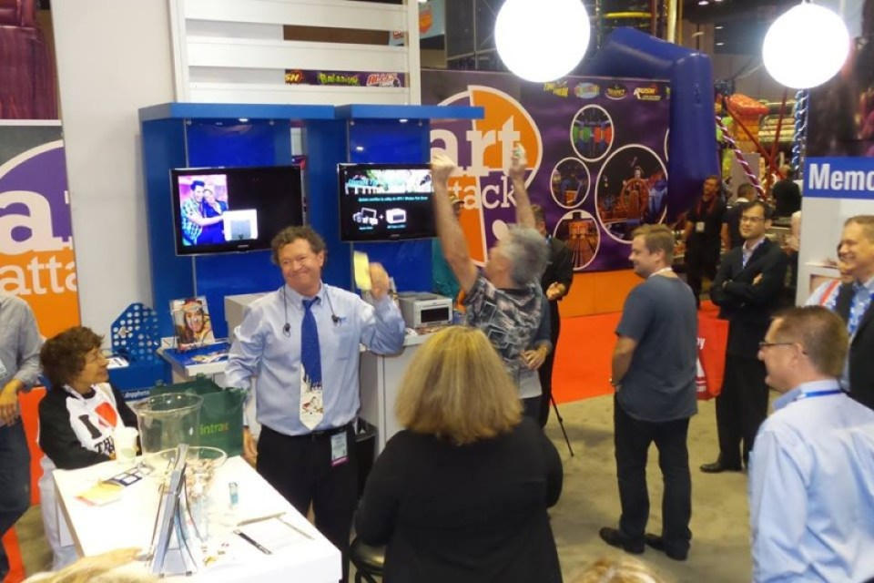 DNP booth at 2015 IAAPA Attractions Expo