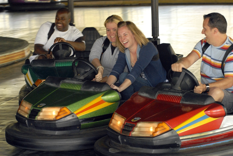 Back by the popular demand of Dorney Park guests...bumper cars! Just when you think you've got a clear path, BAM!--there's someone you didn't dodge. Get behind the wheel of this midway classic and take a crash course in family fun. (PRNewsFoto/Cedar Fair Entertainment Company)