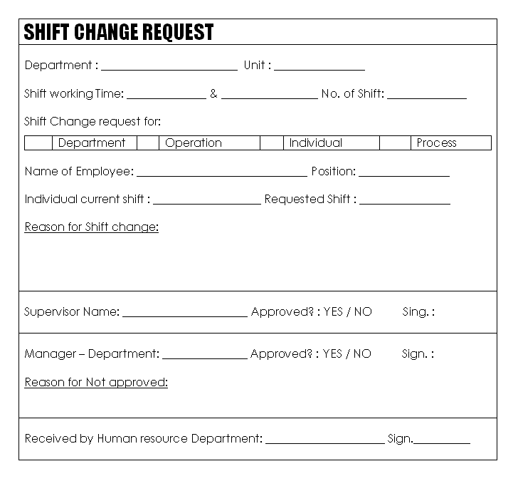 Doc12831658 Sample Change of Address Form Employee change of – Change of Address Form Template