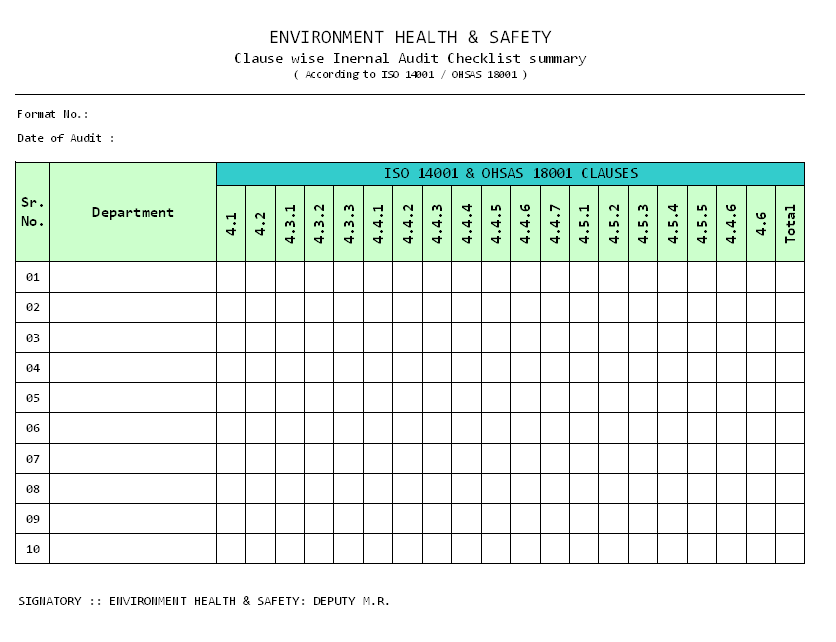 Internal Audit Form Template. Time Worksheet Free Printable Math