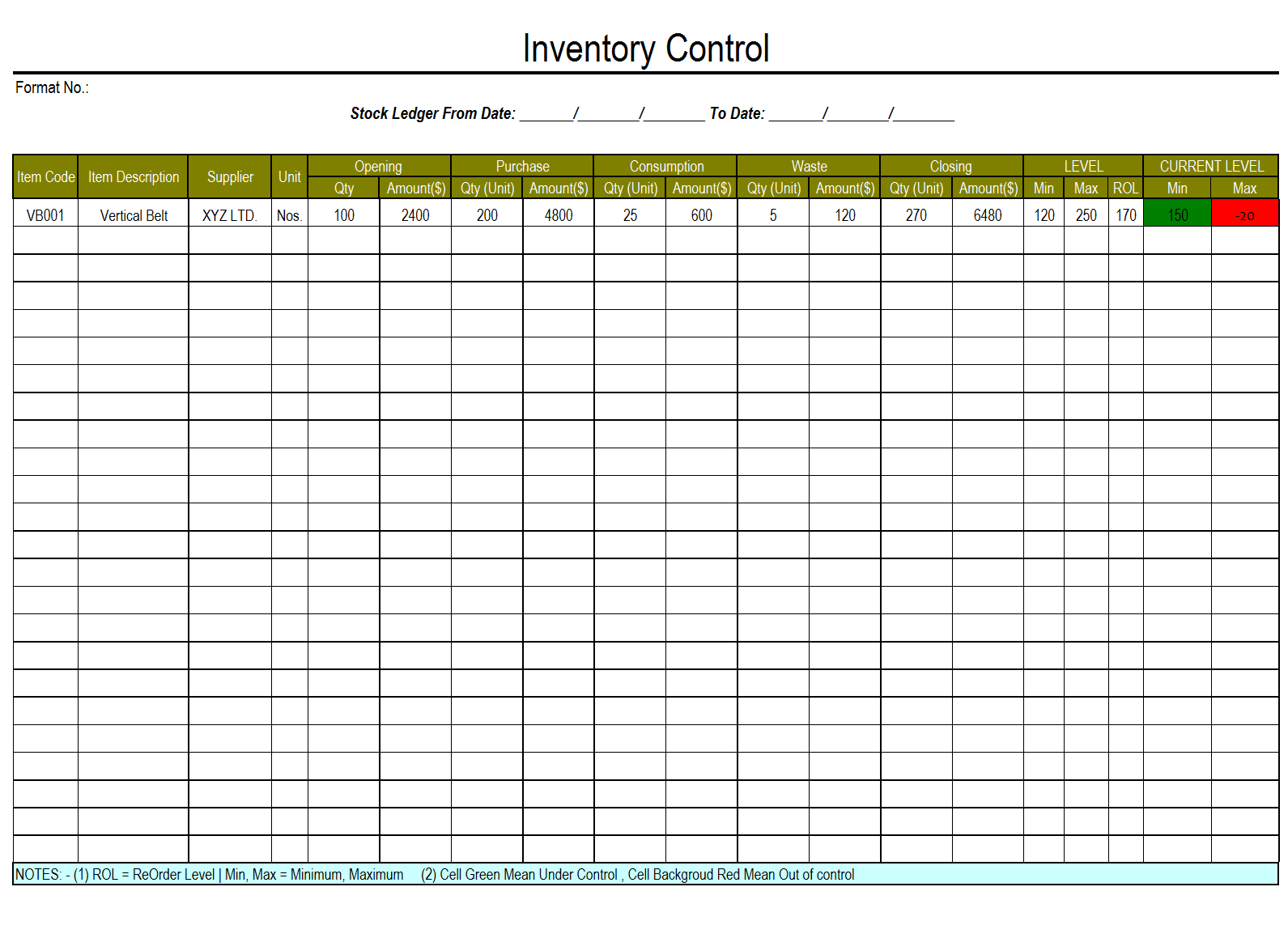 Stock Inventory Template food stocktake free template for excel – Restaurant Inventory Template