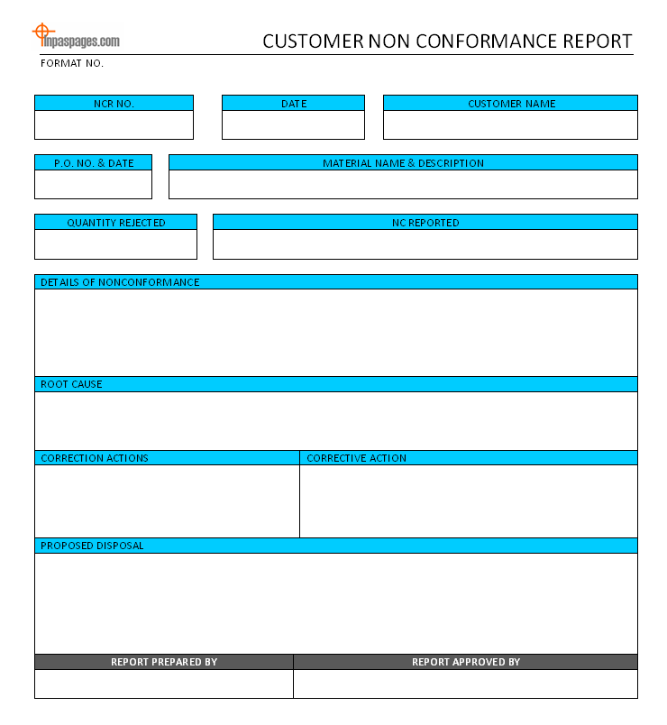 Non Conformance Report Template. sample 10 free word pdf documents ...
