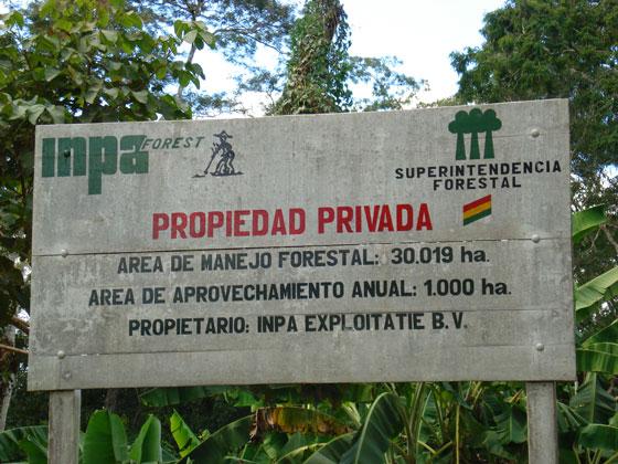 over ons INPA bolivia bos parket
