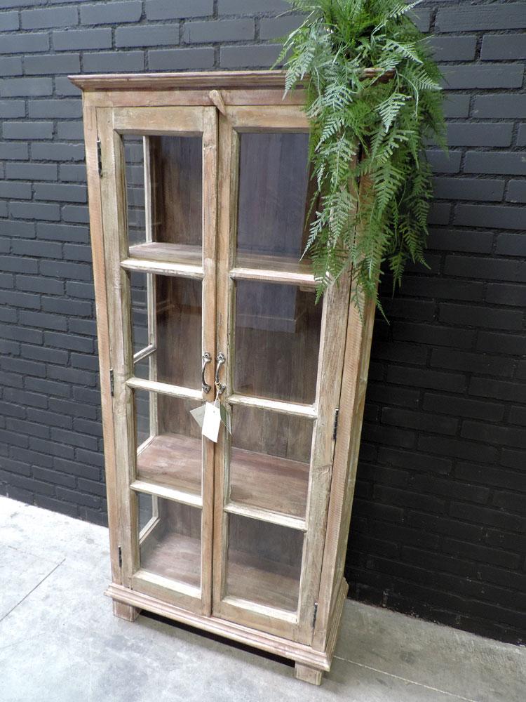 Houten vitrine kast