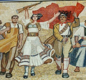 Tirana,Detail Of Albanian Workers
