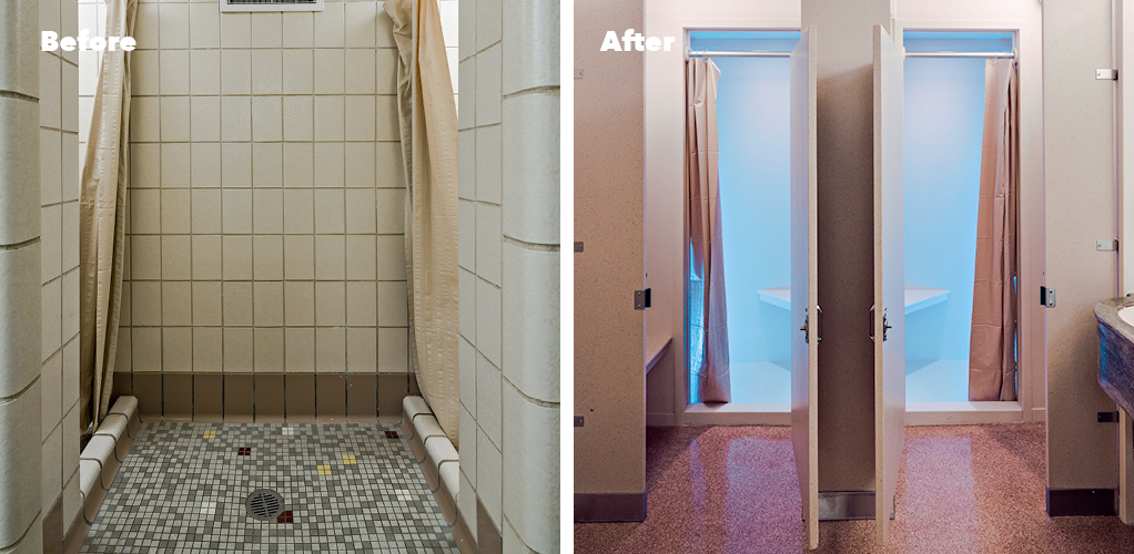 solid surface showers vs tile get the