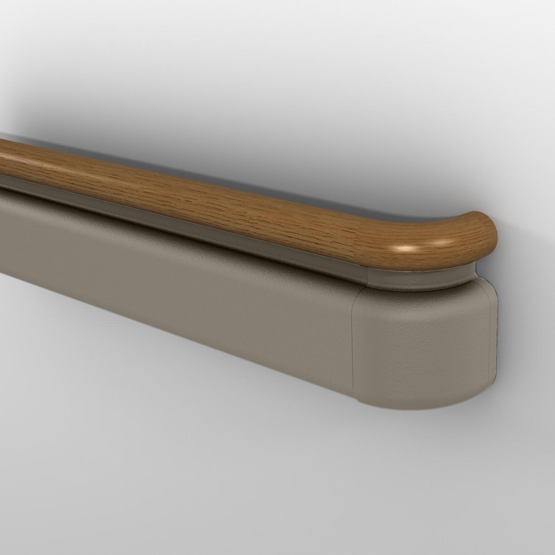 3100 Series Handrail Traditional Style Handrail Inpro Corporation   Oak Wall Mounted Handrail   Oak Stair   Mopstick   Return   Handrail Bracket   Contemporary