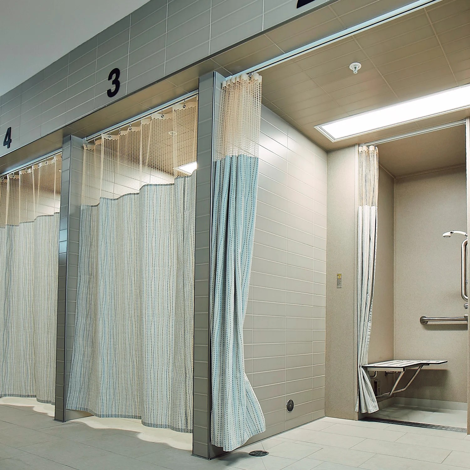 commercial shower curtains hospital
