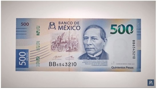 New 500 peso bill