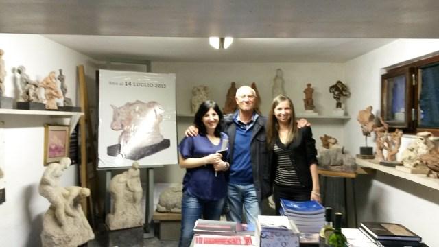 Le blogger con il direttore del Museo Ugo Guidi di Forte dei Marmi