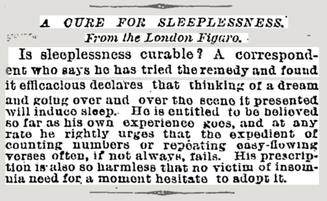 Short Article in the New York Times on Saturday August 11, 1888