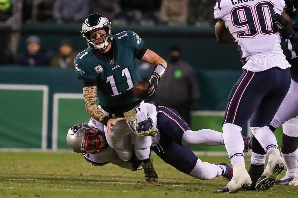 Patriots 17, Eagles 10: Carson Wentz and depleted Birds