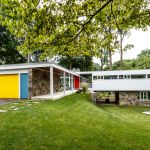 Landscaping Creates A Bucolic Setting For A Mid Century Modern House In Montgomery County