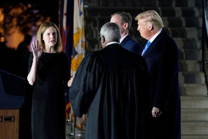 Amy Coney Barrett Supreme Court nomination set to be confirmed by Senate Monday