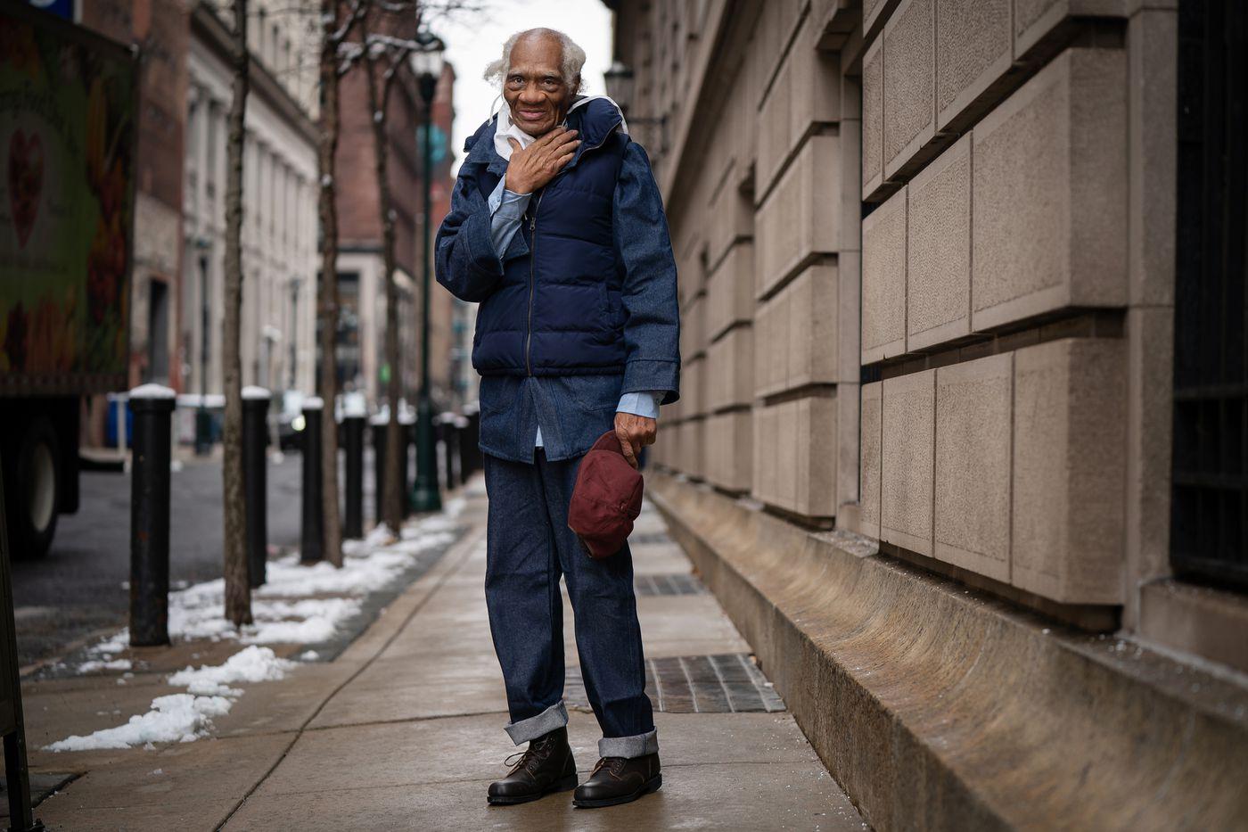 Joe Ligon stops for a portrait outside his lawyers office, in Center City.