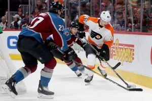 Shorthanded Flyers fall to Colorado, 3-1, as Mikko Rantanen scores a pair