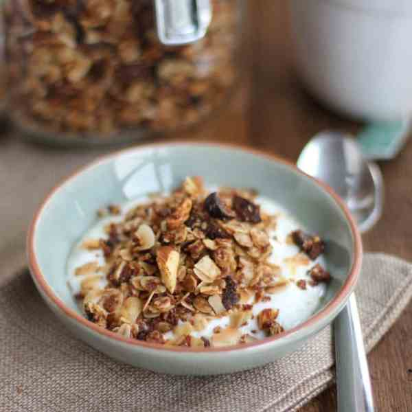Chai Spice Granola with Almonds and Coconut