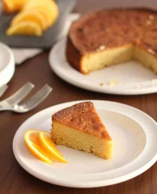 Orange and Honey Polenta Cake