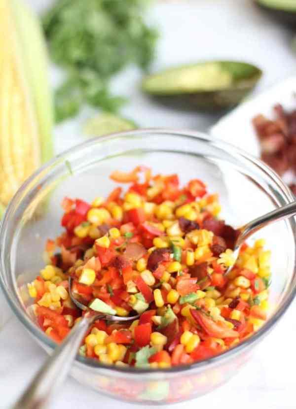 Bacon Corn and Avocado Salad