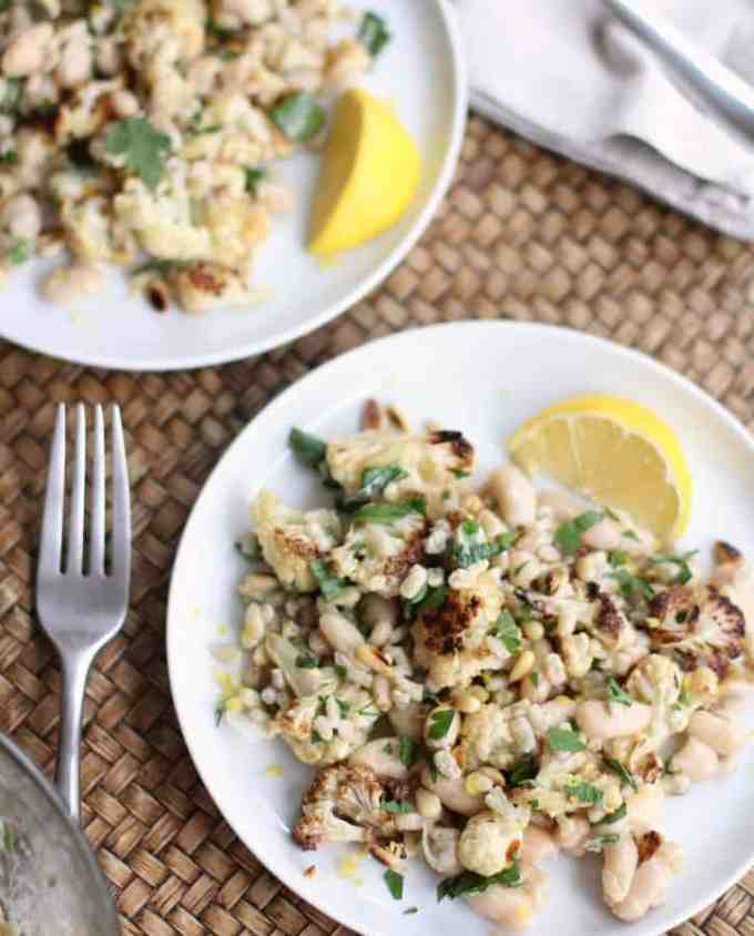 Warm Cauliflower and Herbed Barley Salad
