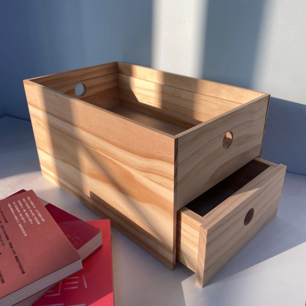 雙向抽屜桌上型收納盒