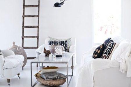 Inrichting Huis Inspiratie » houten ladder decoratie woonkamer ...